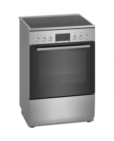 Bosch Cooker HKR39A250U Hob type Vitroceramic, Oven type Electric, Stainless steel, Width 60 cm, Electronic ignition, Grilling, LED, 66 L, Depth 60 cm
