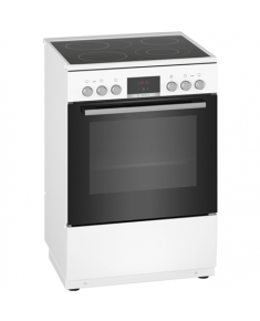 Bosch Cooker HKR39A220U Hob type Vitroceramic, Oven type Electric, White, Width 60 cm, Electronic ignition, Grilling, Digital, 66 L, Depth 60 cm
