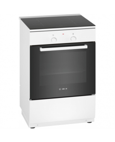 Bosch Cooker HLL090020U Integrated timer, Hob type Induction, Oven type Electric, White, Width 60 cm, Electronic ignition, Grilling, Digital, 66 L, Depth 60 cm