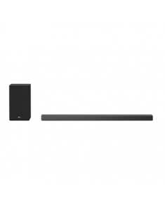 LG 5.1.2ch Hi-Res Dolby Atmos Soundbar with Meridian Technology SN9Y Bluetooth, Wireless connection, Dark Steel Silver, 520 W
