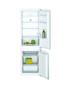Bosch Serie 2 Refrigerator KIV86NFF0 Energy efficiency class F, Built-in, Combi, Height 177 cm, Fridge net capacity 183 L, Freezer net capacity  84 L, 39 dB, White