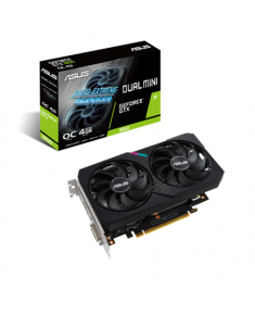 Asus DUAL-GTX1650-O4GD6-MINI NVIDIA, 4 GB, GeForce GTX 1650, GDDR6, PCI Express 3.0, Processor frequency 1620 MHz, DVI-D ports quantity 1, HDMI ports quantity 1, Memory clock speed 1650 MHz