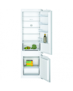 Bosch Serie 2 Refrigerator KIV87NFF0 Energy efficiency class F, Built-in, Combi, Height 177 cm, Fridge net capacity 200 L, Freezer net capacity 70 L, 39 dB, White