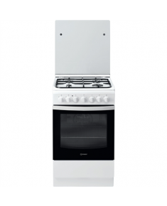 INDESIT Cooker IS5G5PHW/E Hob type Gas, Oven type Electric, White, Width 50 cm, Grilling, 60 L, Depth 60 cm