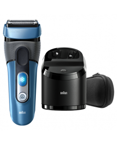 Braun Series 3  Shaver CoolTec CT4cc Operating time (max) 45 min, Lithium Ion, Number of shaver heads/blades 3, Blue/Black, Wet & Dry
