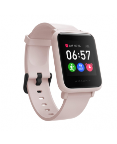 Amazfit Bip S Lite Smart watch, GPS (satellite), AMOLED Display, Touchscreen, Heart rate monitor, Activity monitoring 24/7, Waterproof, Bluetooth, Sakura Pink
