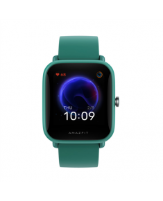 Amazfit Bip U Pro Smart watch, GPS (satellite), TFT LCD, Touchscreen, Heart rate monitor, Activity monitoring Yes, Waterproof, Bluetooth, Rubber, Silicone, Green