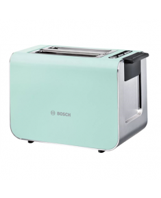 Bosch Styline Toaster TAT8612 Power 860 W, Number of slots 2, Housing material Stainless Steel, Green