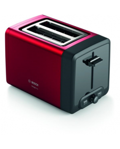 Bosch TAT4P424 DesignLine Toaster, 970 W, 2 slots, Red Bosch DesignLine Toaster TAT4P424 Power 970 W, Number of slots 2, Housing material Stainless Steel, Red/Black