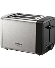 Bosch DesignLine Toaster TAT4P420 Power 970 W, Number of slots 2, Housing material Stainless Steel, Stainless steel/Black
