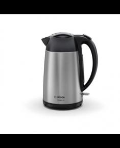 Bosch Kettle DesignLine TWK3P420 Electric, 2400 W, 1.7 L, Stainless steel, 360° rotational base, Stainless steel/Black