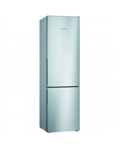 Bosch Refrigerator KGV392LEA Energy efficiency class E, Free standing, Combi, Height 201 cm, No Frost system, Fridge net capacity 249 L, Freezer net capacity 94 L, 39 dB, Stainless steel