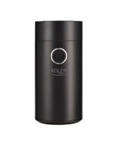 Adler Coffee grinder AD4446bs 150 W, Coffee beans capacity 75 g, Lid safety switch, Black