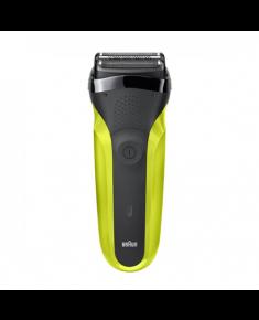 Braun Shaver 300s Operating time (max) 30 min, Black/Green