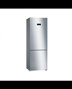 Bosch Refrigerator KGN49XIEA Energy efficiency class E, Free standing, Combi, Height 203 cm, No Frost system, Fridge net capacity 330 L, Freezer net capacity 108 L, 40 dB, Stainless steel