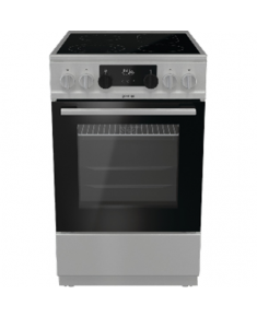 Gorenje Cooker ECS5350XA Hob type Vitroceramic, Oven type Electric, Silver, Width 50 cm, Grilling, 70 L, Depth 59.4 cm