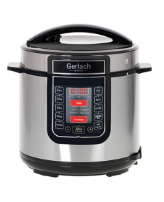 Gerlach Multifunction Electric Pressure Cooker GL 6412 Stainless steel/Black, 6 L, Number of programs 14, Lid included