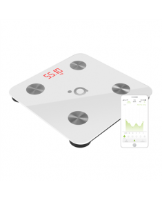 ACME SC101 Smart Scale - White Acme Smart scales SC101W Memory function, Body fat analysis, Electronic scale, Auto power off, Multiple users, Maximum weight (capacity) 150 kg, Body Mass Index (BMI) measuring