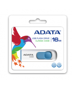 A-DATA Classic C008 16GB White+Blue USB Flash Drive, Retail