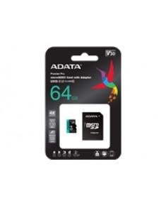 ADATA 64GB Micro SDXC UHS-I U3 V30S + Ad