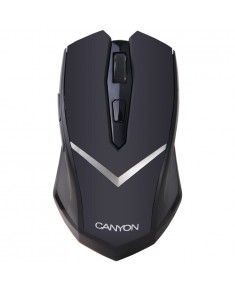 CANYON 2.4GHz wireless Optical Mouse with 6 buttons, DPI 800/1600, power saving technology, Black, 120*67.2*39.4mm, 0.075kg