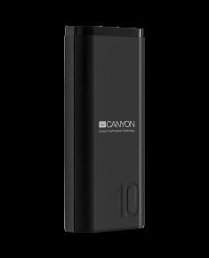 CANYON PB-103 Power bank 10000mAh Li-poly battery, Input 5V/2A, Output 5V/2.1A, with Smart IC, Black, USB cable length 0.25m, 120*52*22mm, 0.210Kg
