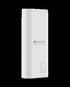 CANYON PB-103 Power bank 10000mAh Li-poly battery, Input 5V/2A, Output 5V/2.1A, with Smart IC, White, USB cable length 0.25m, 120*52*22mm, 0.210Kg