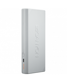 CANYON Power bank 13000mAh built-in Lithium-ion battery, max output 5V2.4A, input 5V2A. White