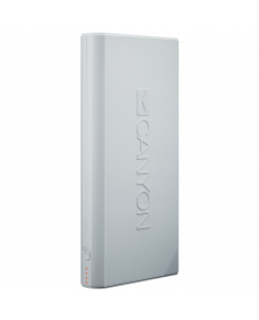 CANYON Power bank 16000mAh built-in Lithium-ion battery, max output 5V2.4A, input 5V2A, White, Micro USB cable length 0.25m, 161*81*22mm.0.446Kg