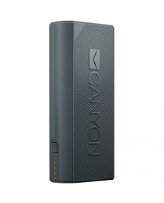 CANYON Power bank 4400mAh, built-in Lithium-ion battery, output 5V2A, input auto-adjust 5V1A-2A, Dark Gray