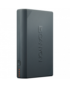 CANYON Power bank 7800mAh built-in Lithium-ion battery, 2 USB port max output 5V2A, input 5V2A. Dark Gray