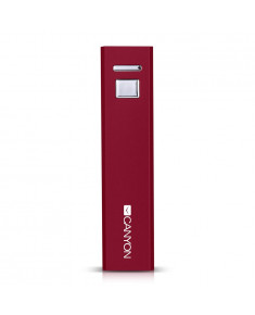 CANYON CNE-CSPB26R Aluminium compact battery charger. Color: red, Capacity: 2600mAh, Output: DC5V 1A, Input: DC5V 1A Output Charging: 1.5-2 hours, Input Charging: 2-3 hours. Cycle Life: 500 times