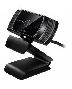 CANYON 1080P full HD 2.0Mega auto focus webcam with USB2.0 connector, 360 degree rotary view scope, built in MIC, IC Sunplus2281, Sensor OV2735, cable length 1.5m, Black, 76.3x49.8x54mm, 0.106kg