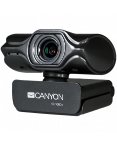 CANYON 2k Ultra full HD 3.2Mega webcam with USB2.0 connector, buit-in MIC, Manual focus, IC SN5262, Sensor Aptina 0330, cable length 1.5m, Grey, 61.1*47.7*63.2mm, 0.122kg