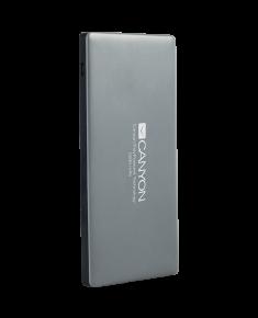 CANYON Power bank 5000mAh Li-polymer battery,with Smart IC, Input 5V/2A, Output 5V/2A(Max), 138*69*9.2mm, 0.14kg, Dark Gray