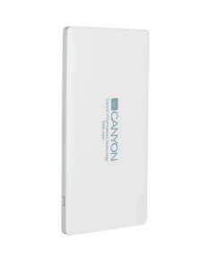 CANYON Power bank 5000mAh Li-polymer battery,with Smart IC, Input 5V/2A, Output 5V/2A(Max), 138*69*9.2mm, 0.146kg,White