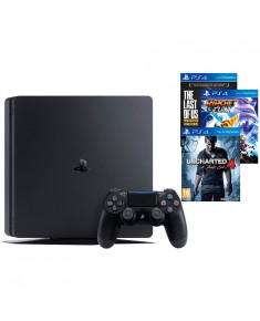 SONY PlayStation 4 - 1TB black + TLOU + Uncharted 4 + Ratchet & Clank