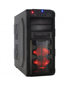 Chassis INTER-TECH GM-X02 Black Midi Tower, ATX, 2xUSB2.0, 2xUSB3.0, HD-audio, PSU optional
