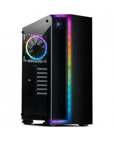 Chassis INTER-TECH S-3906 Renegade Gaming Midi Tower, ATX, 2xUSB3.0, 2xUSB2.0, Tempered Glass side panel and one wide RGB LED strip, 2xRGB LED strips and a 120mm RGB fan, PSU optional