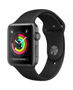 Apple Watch Series 3 GPS, 38mm Space Grey Aluminium Case with Black Sport Band, Model A1858