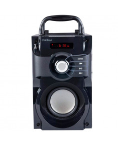 1 rechargeable battery included: 1800mAh (built in), Bluetooth 2.1+ EDR, MP3, Micro SD, FM Radio,Band 80 ~ 20000 Hz, Main speakers: 2 x 2 ''tweeter,built in Subowoofer,The power of the set: 15W RMS Subwoofer:2OHM. Remote control,3.5mm jack,USB cable