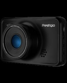 Car Video Recorder PRESTIGIO RoadRunner 527 (FHD 1920x1080@30fps, HD 1280x720@60fps, 3.0 inch screen, NTK966580, 2 MP CMOS GC2023 image sensor, 12 MP camera, 140° Viewing Angle, Mini USB, 180 mAh, Automatic Night Mode, Motion Detection, G-sensor, Cyclic Recording, EIS, Black, Metal)