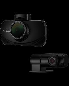 Car Video Recorder PRESTIGIO RoadRunner 600GPSDL (Front: WQHD 2560x1440@30fps; FHD 1920x1080@60fps Rear: FHD 1920x1080@30fps, 3.0 inch screen, NT96663, 2 MP CMOS SONY IMX291 image sensor, 120° Viewing Angle, Micro USB, 900mAh, GPS, Radar POI, Automa