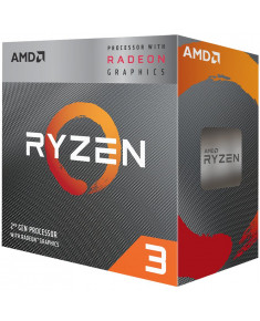 AMD CPU Desktop Ryzen 3 4C/4T 3200G (4.0GHz,6MB,65W,AM4) box, RX Vega 8 Graphics, with Wraith Stealth cooler