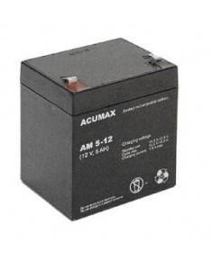 BATTERY 12V 5AH VRLA/AM5-12T2 ACUMAX EMU