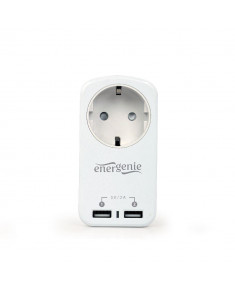 CHARGER USB WITH P/T AC SOCKET/WHITE EG-ACU2-01-W GEMBIRD