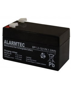 BATTERY 12V 1.2AH VRLA/BP1.2-12 ALARMTEC EMU