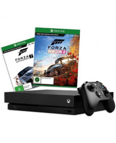 CONSOLE XBOX ONE X 1TB BLACK/GAME FORZA H4&MS7 MICROSOFT