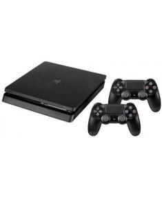 PLAYSTATION 4 CONSOLE 500GB/SLIM BLACK 2 X DUALSHOCK SONY