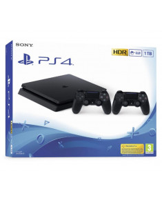 PLAYSTATION 4 CONSOLE 1TB SLIM/BLACK/ 2ND DUALSHOCK SONY